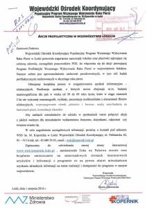Akcje profilaktyczne w województwie łódzkim