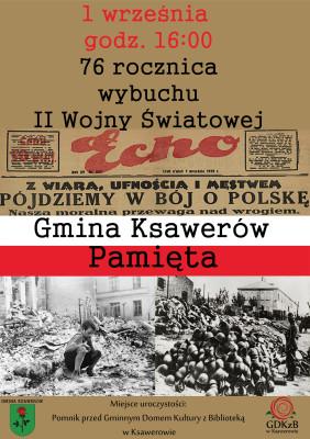rocznica wybuchu wojny w Ksawerowie